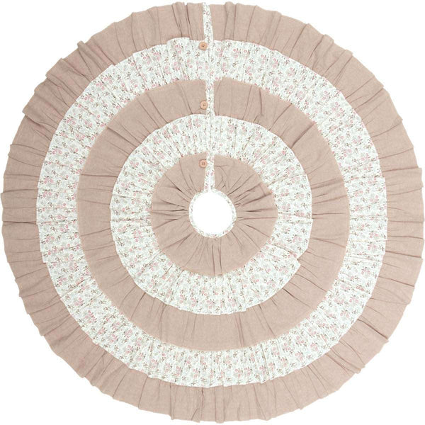 Carol Christmas Tree Skirt 48 VHC Brands