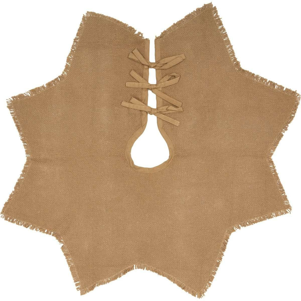 Burlap Natural Mini Christmas Tree Skirt 21 VHC Brands