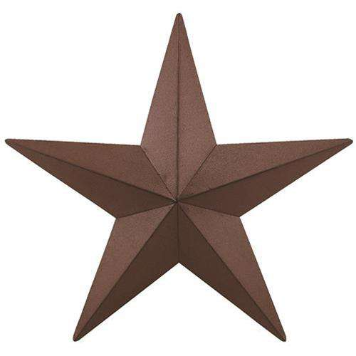"Barn Star - 18"" - Burgundy Barn Stars CWI+"
