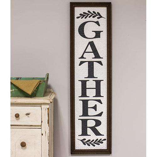 Basket Weave Textured 'Gather' Sign Pictures & Signs CWI+