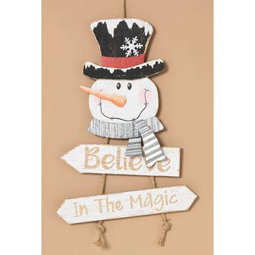 Believe In Magic Snowman Sign Signs CWI+