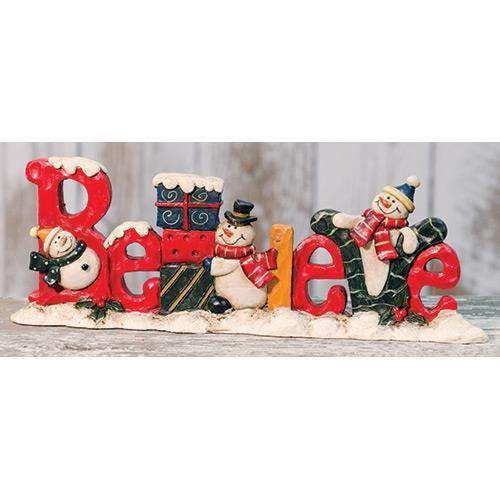 Believe Resin Snowman Standing Resin CWI+