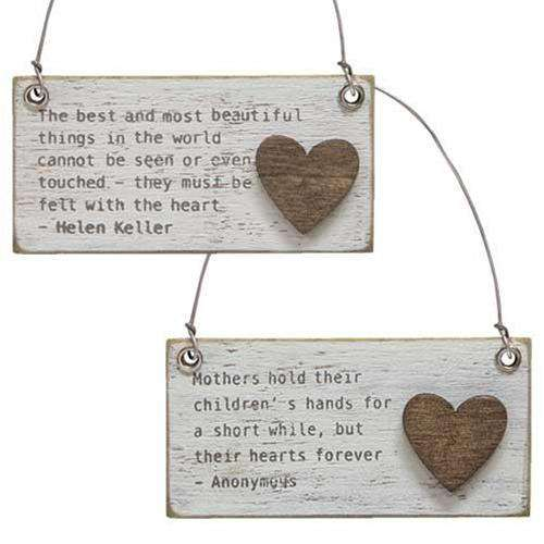 Best Things Charm Ornament, 2 Asst. Valentine decore CWI+