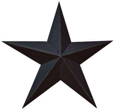 "Black Barn Star - 24"" Barn Stars CWI+"