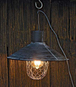 Black Metal Lamp w/ Wire Lamps/Shades/Supplies CWI+