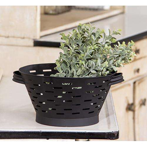 "Black Olive Basket, 13.5"" Baskets CWI+"
