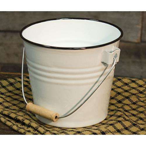 Black Rim Enamel Bucket Buckets & Cans CWI+