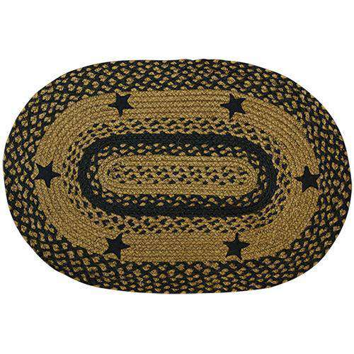 Black Star Oval Rug, 27 x48 Rugs CWI+