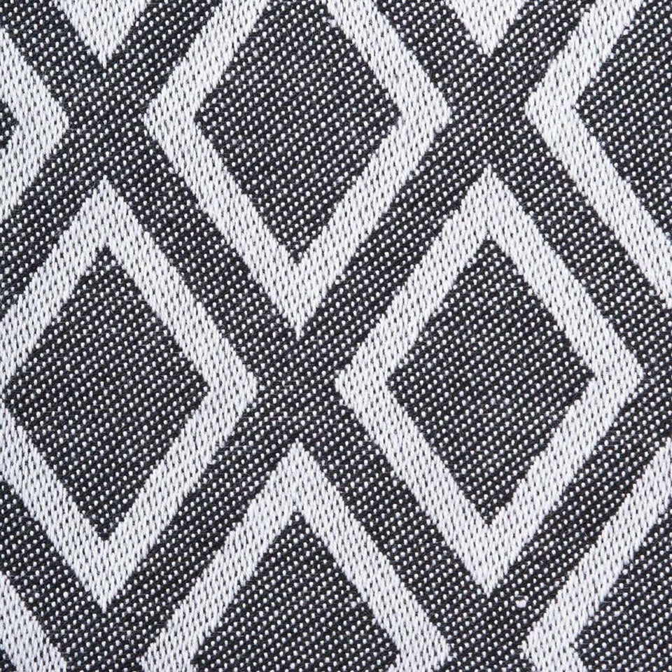 Black & White Diamond Table Runner 14X72