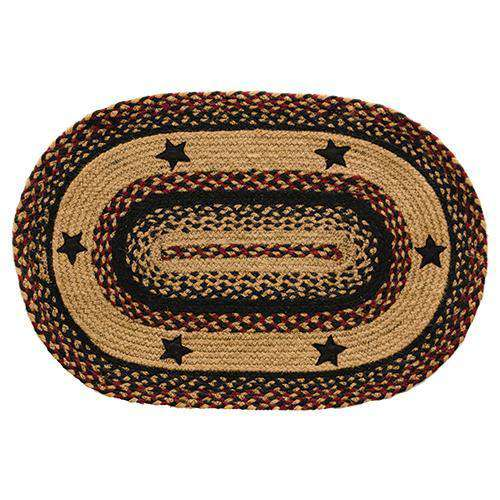 Blackberry Star Oval Rug, 20x30 Rugs CWI+