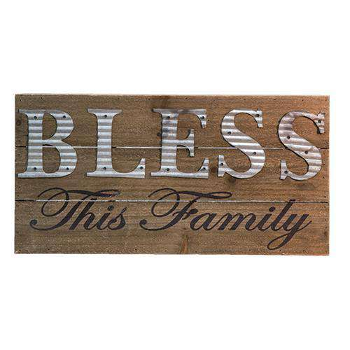 Bless This Family Sign Pictures & Signs CWI+