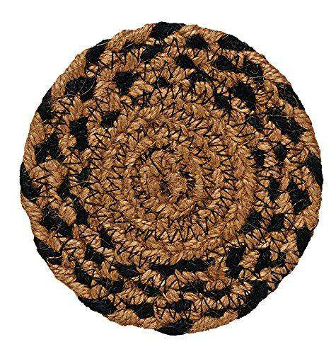 Braided Ebony Chair Pad, Coaster, Trivet & Placemat table mats CWI Gifts