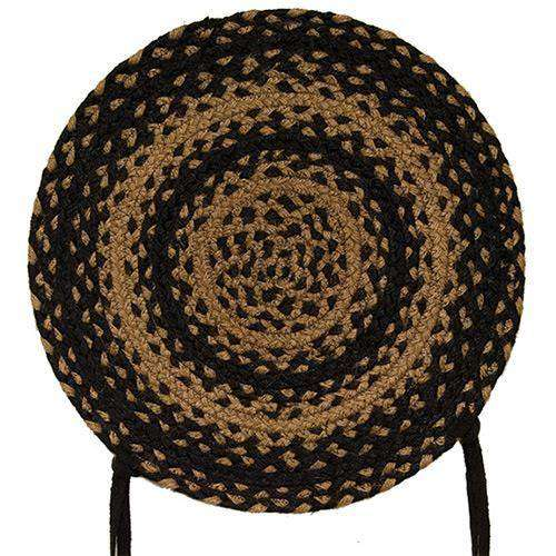 Braided Ebony Chair Pad, Coaster, Trivet & Placemat table mats CWI Gifts Chair Pad 15""