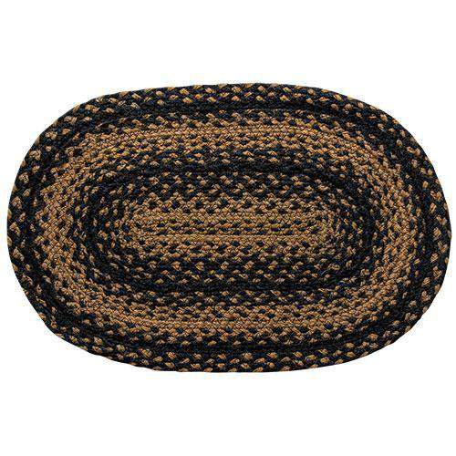 Braided Ebony Chair Pad, Coaster, Trivet & Placemat table mats CWI Gifts Placemat 13x19""