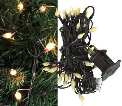 Brown Silicone Teeny Lights, Brown Cord, 35ct Light Strands CWI+