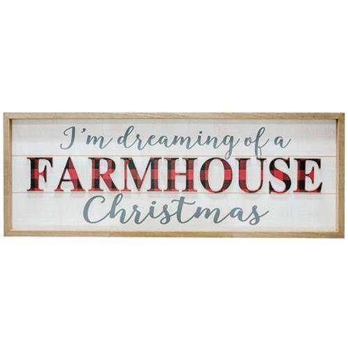 ^Buffalo Check Farmhouse Christmas Sign Wall CWI+