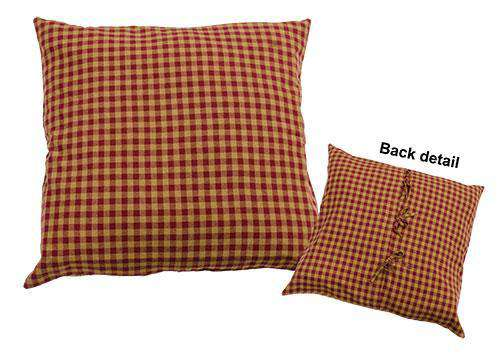 Burgundy Check Euro Sham Bedding CWI+