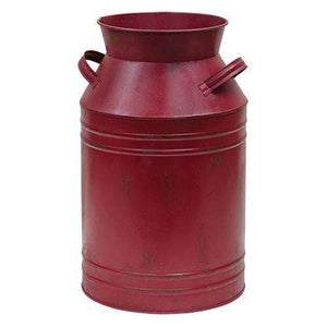 "Burgundy Milk Can - 13"" HS Containers CWI+"