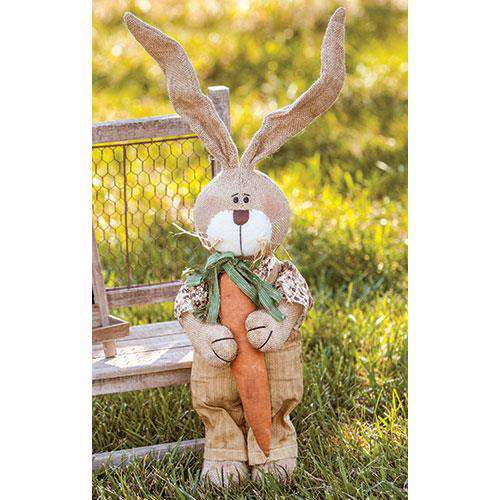 Burlap Overall Bunny Easter CWI+