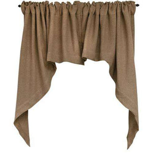 Burlap Swag Primitive Curtain curtains CWI Gifts