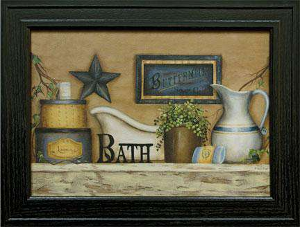 Buttermilk Bath Framed Print Country Prints CWI+