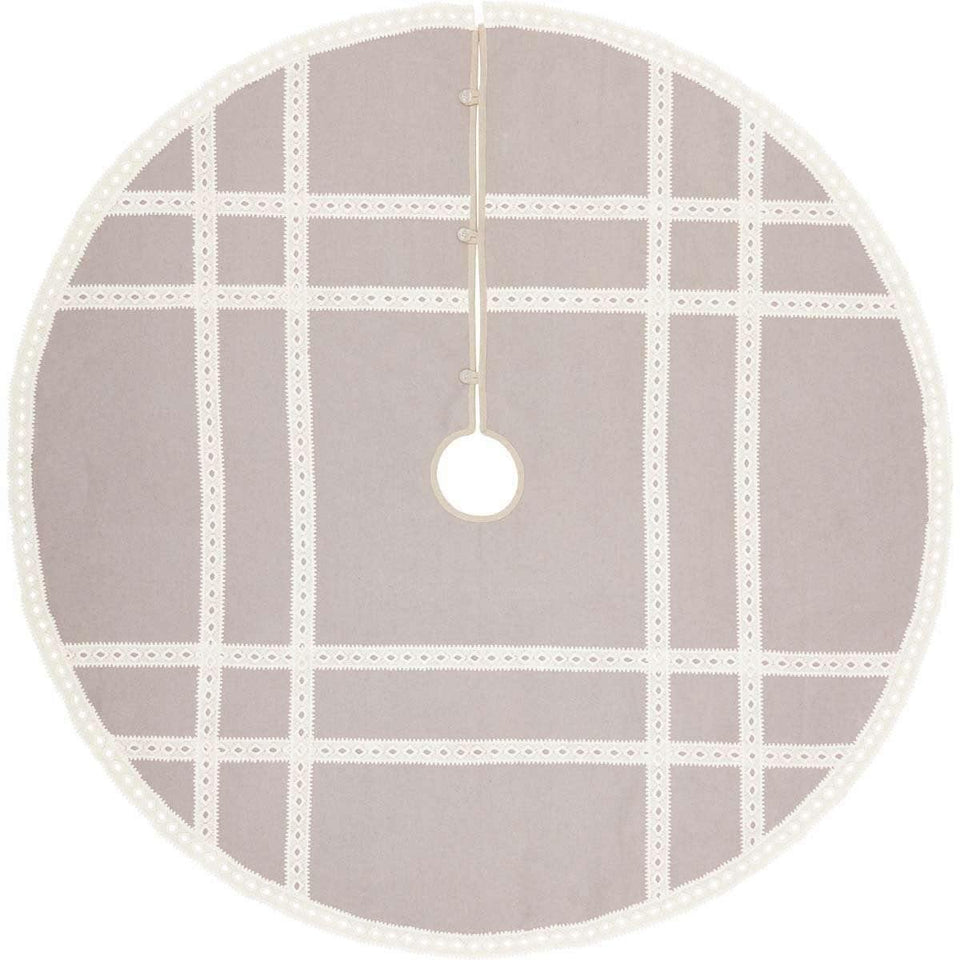 Margot Grey Christmas Tree Skirt 55 VHC Brands