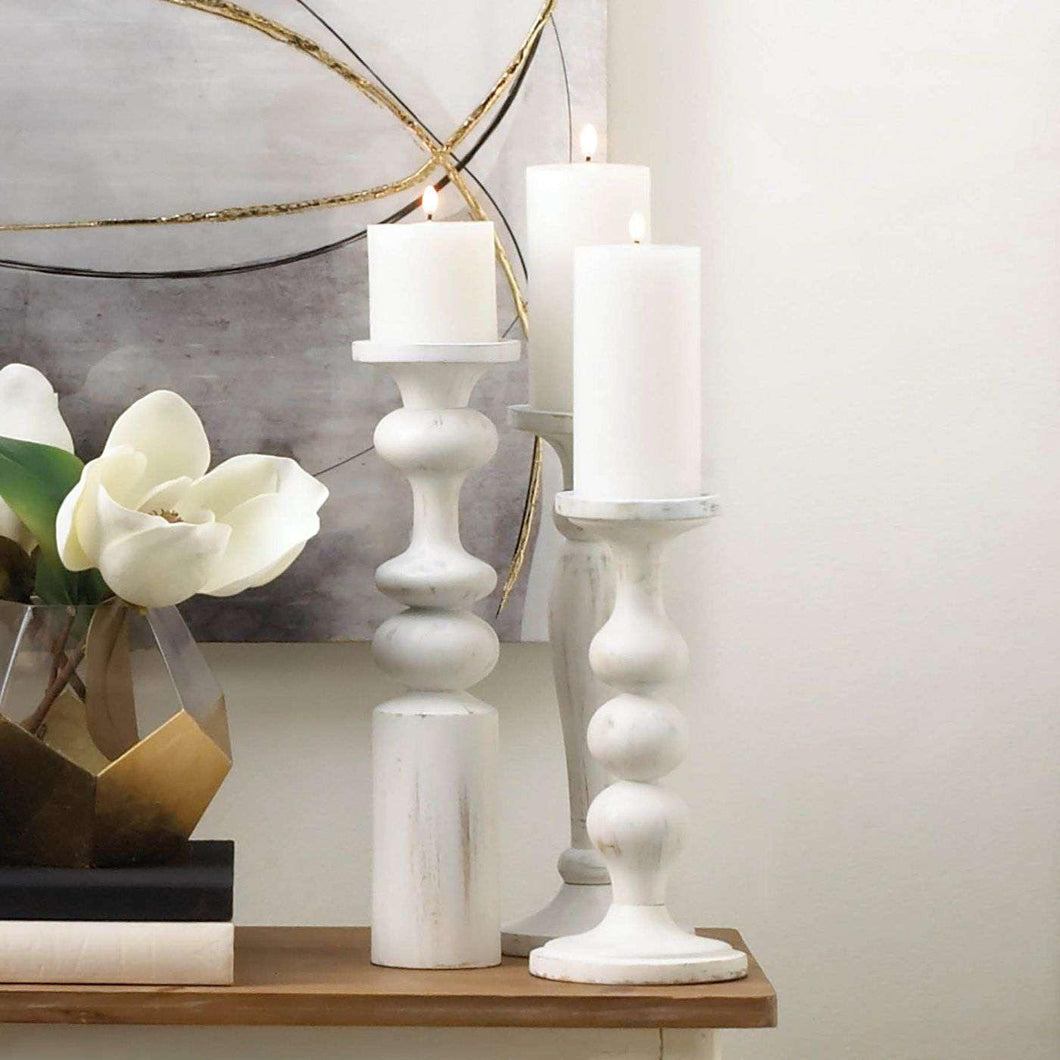 Cadiz White Artisan Candle Holder
