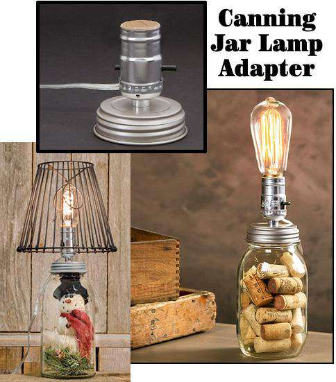 Canning Jar Lamp Adapter, Small Lamps/Shades/Supplies CWI+