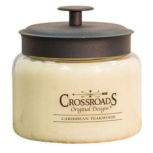 Caribbean Teakwood Jar Candle, 48oz Candles and Scents CWI+