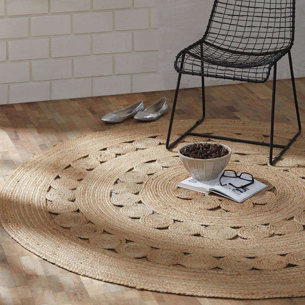 Celeste Jute Braided Round Rugs VHC Brands Rugs VHC Brands