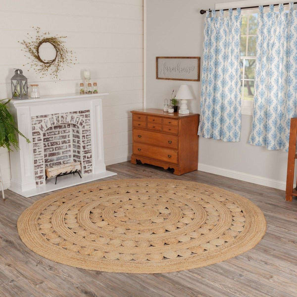 Celeste Jute Braided Round Rugs VHC Brands Rugs VHC Brands 6' Ft