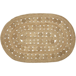 "Celeste Jute Braided Rugs Oval VHC Brands Rugs VHC Brands 27"" x 48"""