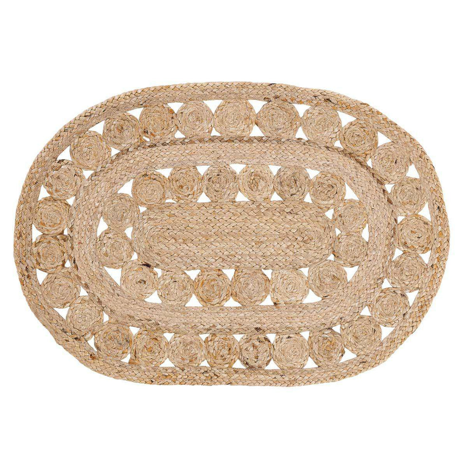 Celeste Jute Braided Rugs Oval VHC Brands Rugs VHC Brands 3'x5'