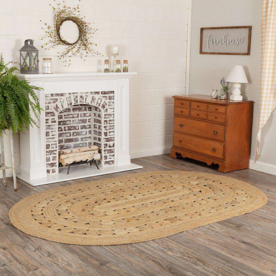 Celeste Jute Braided Rugs Oval VHC Brands Rugs VHC Brands 5'x8'