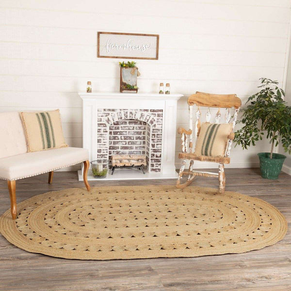 Celeste Jute Braided Rugs Oval VHC Brands Rugs VHC Brands 6'x9'
