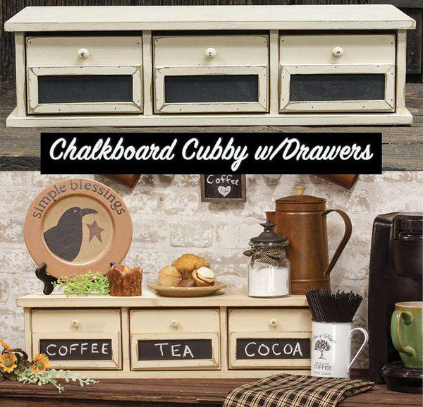 Chalkboard Cubby w/3 Drawers Office CWI+