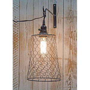 Chicken Wire Pendant w/Light Fixture Lamps/Shades/Supplies CWI+