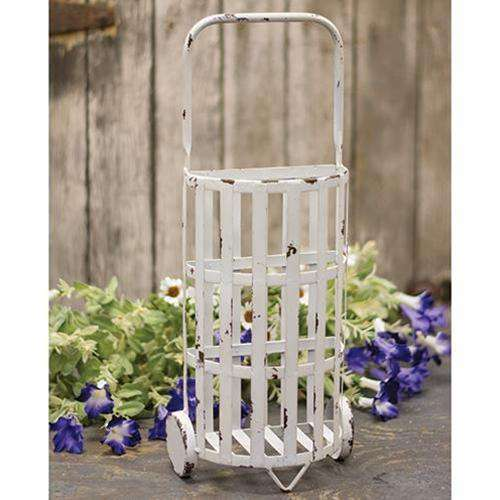 Chippy White Shopping Trolley Containers CWI Gifts