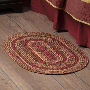 "Cider Mill Jute Braided Rugs Oval VHC Brands Rugs VHC Brands 20"" x 30"""
