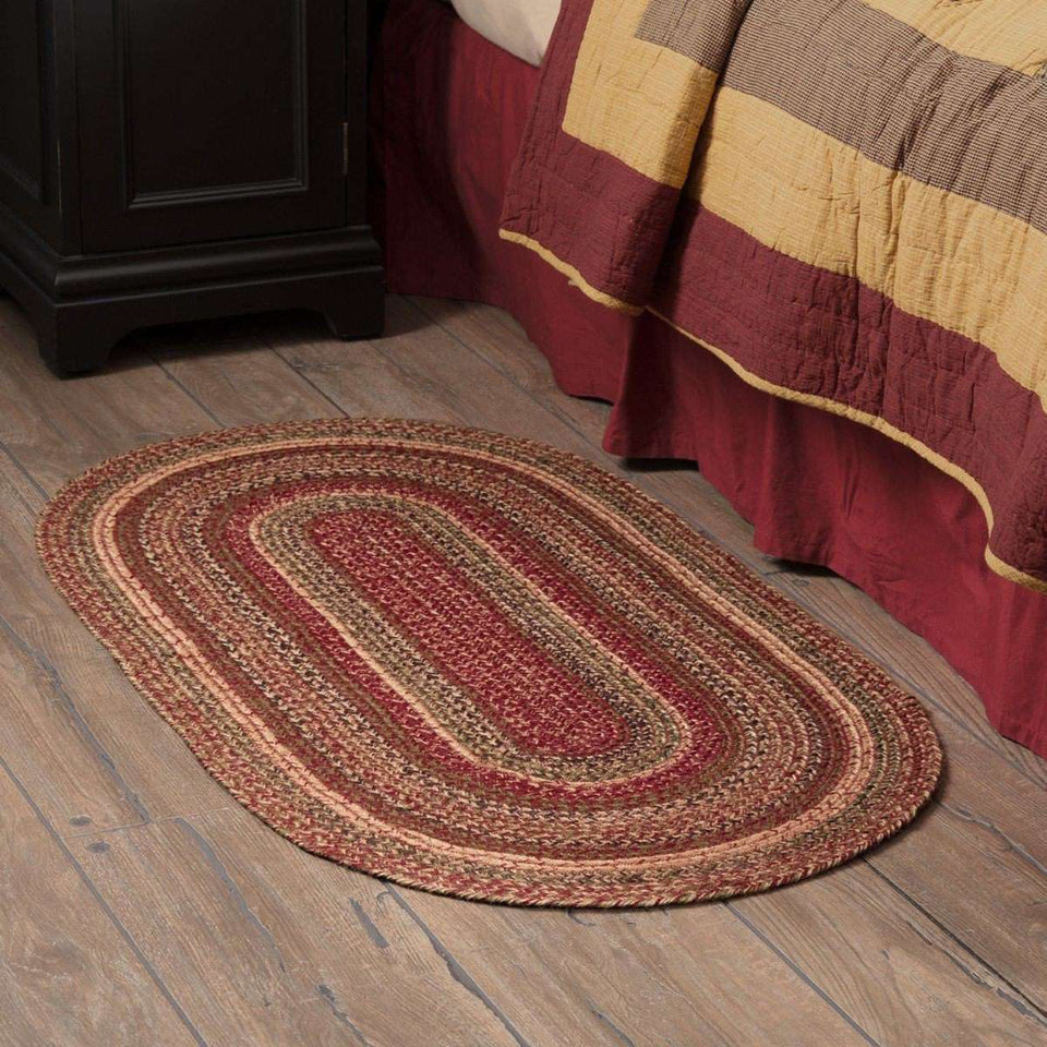 "Cider Mill Jute Braided Rugs Oval VHC Brands Rugs VHC Brands 27"" x 48"""