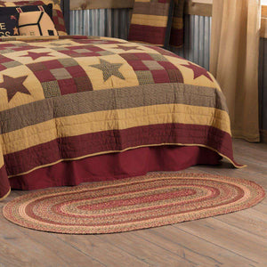 Cider Mill Jute Braided Rugs Oval VHC Brands Rugs VHC Brands 3'x5'