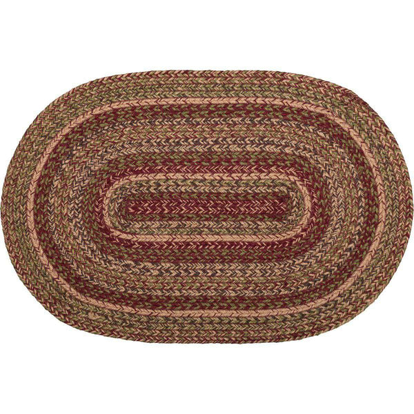 Cider Mill Jute Braided Rugs Oval VHC Brands Rugs VHC Brands 4'x6'