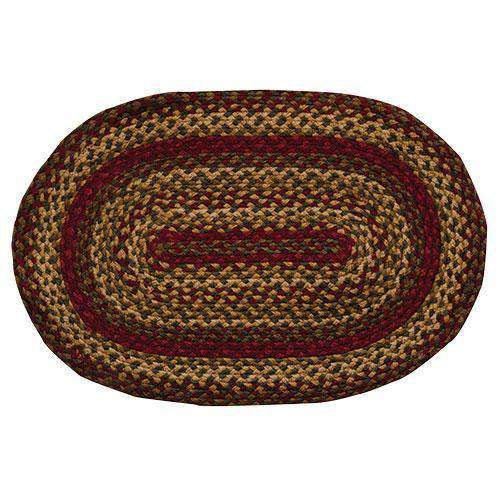 Cinnamon Oval & Heart Shape Braided Rug rugs CWI Gifts 20x30 Inches