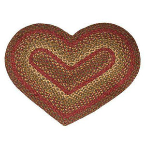 Cinnamon Oval & Heart Shape Braided Rug rugs CWI Gifts Heart Rug 20x30