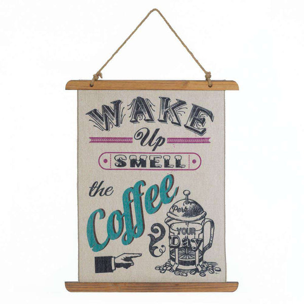 Coffee Perk Up Linen Wall Art