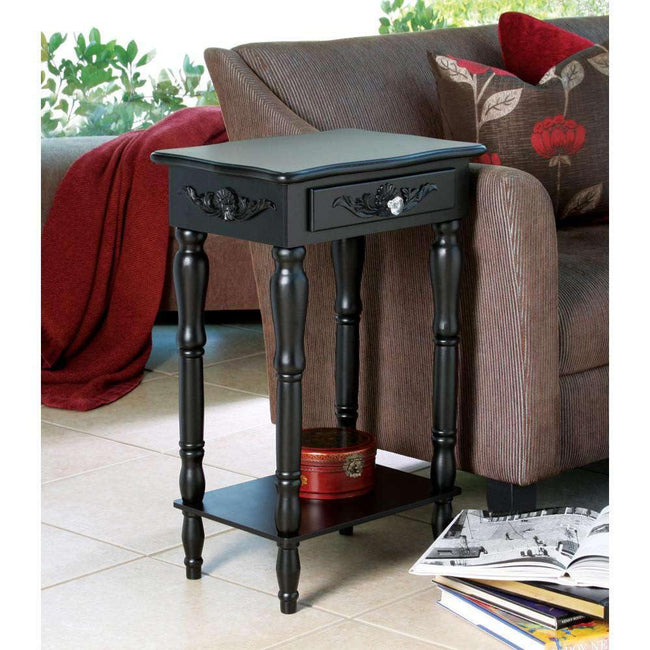 Colonial Carved Side Table - The Fox Decor