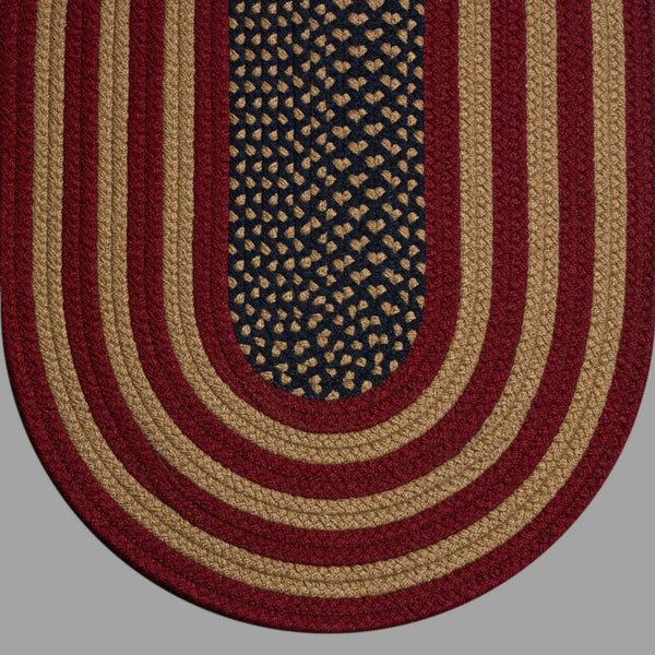 Colonial Rustic American Flag Braided Rugs Rugs Colonial Braided Rugs