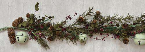 Country Bell Pine Garland Christmas CWI+