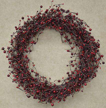 "Country Berry Wreath - 20"" Rings/Wreaths CWI+"