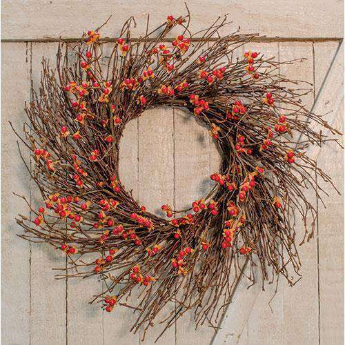 "Country Bittersweet Wreath, 22"" Fall CWI+"